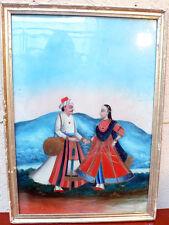 Ancienne peinture sur verre Inde du Nord 19e