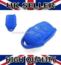 Ford Transit Connect MK7 3 Button Remote Key Fob Case Shell Cover Repair Blue