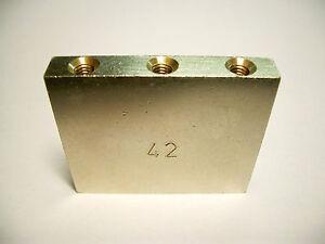 Schaller Tremolo Block 42 mm vernickelt ohne Zubehör, ohne OVP