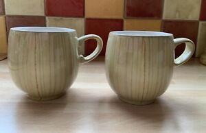 Denby Caramel Stripes Mugs x 2