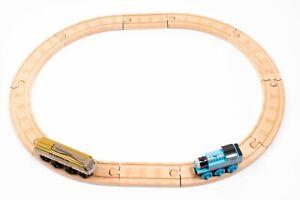 GENUINE Learning Curve Thomas Wooden TRACK BUNDLE w/ Diesel 10 Thomas Trains