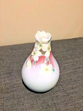 Franz Dogwood Flower Sculptured Porcelain Vase New in box XP1812