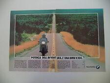 advertising Pubblicità 1987 MOTO BMW K100 K 100