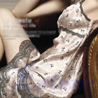 Women Lady Sexy Lace Imitated Silk Sleepwear Dress Nightgown Night Robes Pajamas