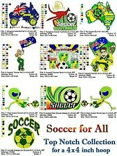 INTERNATIONAL SITES: Soccer for All Collection - for a 4 x 4 inch Hoop