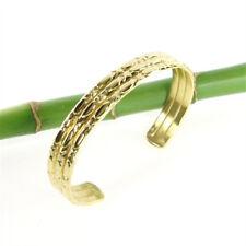 Tolle exotisch orientalisch  Damen Edelstahl Armspange Farbe gold