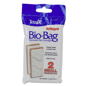 Tetra Bio Bag Whisper Small 3i Cartridge 2 Pack For Power Filter Replacement