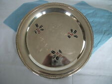 Silver Tray Merry Christmas - engraved and enamelled with holly