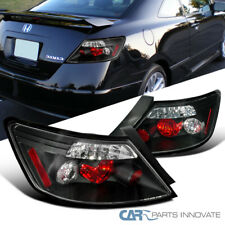 For Honda 06-11 Civic 2Dr Coupe Replacement Black Tail Lights Brake Rear Lamps