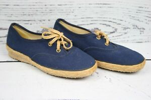 Vintage KIX by LaCrosse Blue Canvas Sneakers Women's Sz. 6.5 M