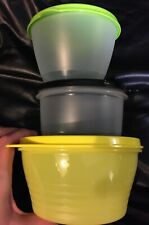 Tupperware Set of 3 Round 250-500ml Refrigerator Bowls Containers with Seals
