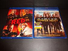 TOWER HEIST & RED-Ben Stiller, Eddie Murphy, Bruce Willis,Helen Mirren-2 BLURAYs