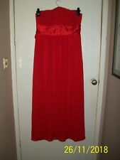 Strapless Evening Dress red size 18 christmas cruise worn once exc.con