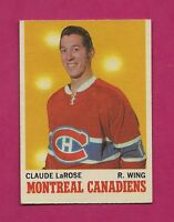 1970-71 OPC # 56  CANADIENS CLAUDE LAROSE ERROR EX+ CARD (INV# A1036)