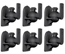 6 Pack Lot - Satellite Speaker Black Wall Mount Brackets fits Bose Jewel Cube
