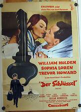 SCHLÜSSEL (Kinoplakat / Filmplakat '58) - WILLIAM HOLDEN / SOPHIA LOREN
