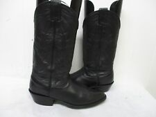 Nocona Black Leather Cowboy Boots Womens Size 6.5 B Style 19400 USA