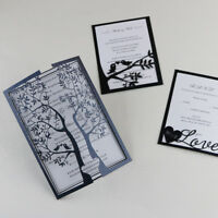 50-Personalized tree and Love Wedding Invitation Cards +Inner sheet +Envelopes