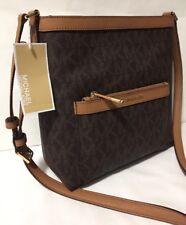 471d4c798088 MICHAEL KORS MORGAN Brown Signature Messenger Crossbody Shoulder Bag Medium