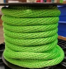 "ANCHOR ROPE DOCK LINE 1/2"" X 200' BRAIDED 100% NYLON LIME MADE IN USA"