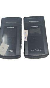 2 LOT Samsung SCH-U900 Verizon Flip Phone Working Units Good LCD U900 USED