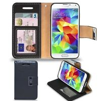 Samsung Galaxy S5 i9600 - Premium  Leather Wallet Case  &  Free Screen Protector