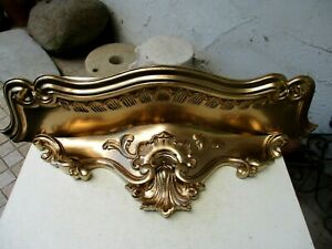 Vintage Lovely Corbel Wall Shelf Bracket Art Wood Handmade Carved Gilded Gilt