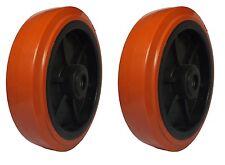 "2 x 200mm. (8"") QUALITY HEAVIER DUTY WHEELS with roller bearing. Truck/Trolley*"