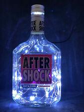 Aftershock Red Cinnamon Spirit Bottle Led (Choice of Colour) Lamp Light Pub