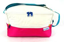 Vintage Together Pink White Turquoise 1990s Style Insulated Soft Sided Cooler