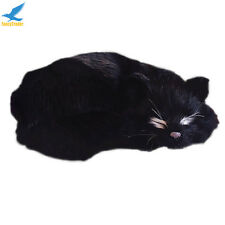 Big Cat Plush Lifelike Realistic Black Simulation Decoration Soft Stuffed Toys A