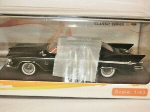 GLM Models 1/43rd Scale 1961 Imperial Crown Convertible in Black with Hood Up