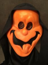 Vtg Easter Unlimited Fun World (T) Orange GhostFace Halloween Mask Scream Spoof