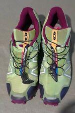 Salomon Speedcross 3 Womens Green 8.5 Trail Running Shoes Ortholite ContaGrip