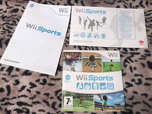 Wii Sports Nintendo CD & Instruction Booklet