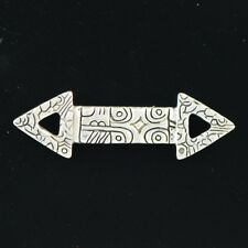Mexican Silver Gigi Mizrahi Double Arrow Sterling Brooch Pin