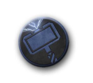 "THOR / 1"" / 25mm pin button / badge / Marvel / Hulk / Iron Man / Captain America"