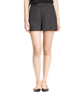 Tory Burch Tilda Shorts Mini Polka Dot Print, Stretch Silk $195, Sz 4