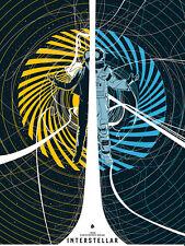Interstellar screen print movie poster limited edition