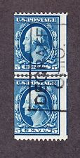 US 351 5c Washington Used Line Pair Avg SCV $3000