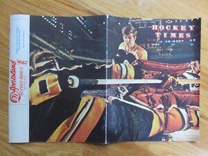 Rare BOBBY ORR Hockey Times February 1971 Magazine BOSTON BRUINS Gerry Cheevers