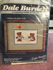 "Dale Burdett Count Cross Stitch Kit ""Cutting Out Paper Doll"" Unfinished Unopened"