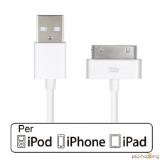 CAVO USB DATI PER IPHONE 4 4S 3G 3GS APPLE 30 PIN COME ORIGINALE PER IPAD IPOD