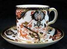 Royal Crown Derby KING Demitasse Cup & Saucer Current Backstamp 383 GREAT COND