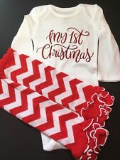 baby girl first christmas outfit Girl 1st Christmas outfit Size 18 Months