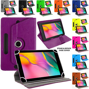 Rotating Stand Flip Case Cover Universal For All Samsung Galaxy Tablets 10.1""