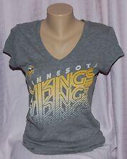 Minnesota Vikings Womens Repeating Name V-Neck T-Shirt M
