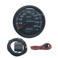 Waterproof Digital Gauges GPS Antenna Car Speedometer Motor Speedo 200KM/h