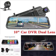 "10"" HD 1080P Dual Lens Car DVR Dash Cam Video Camera Rearview Mirror Recorder"
