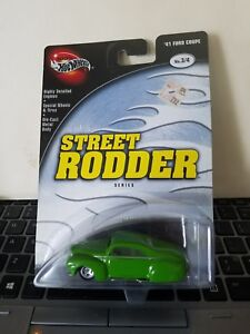 100% Hot Wheels '41 FORD COUPE (Tail Dragger) Green w/RR Tires STREET RODDER